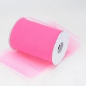 Kate's Craft Store. SHOCKING PINK Tulle 15cm x 90m (100 yards long) roll.