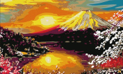Greek Art Paintworks Paint Colour By Number Kits,Mount Fuji,41cm by 50cm