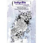 IndigoBlu Cling Mounted Stamp, Peony Posey
