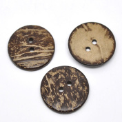 Coconut Shell Buttons Pack of 20 with Shizaru Designs® Gift Bag