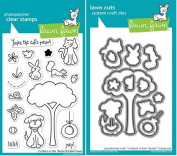 Lawn Fawn Critters In The Burbs Clear Stamp and Die Set - Includes One Each of LF310 (Stamp) & LF685 (Die) - Custom Set
