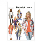 Butterick Patterns B6176ZZ0 Misses' Kimono Sewing Template, ZZ
