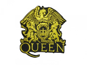 2 pieces QUEEN Iron On Patch Fabric Applique Motif Rock Band Punk Metal 3 x 2.6 inches