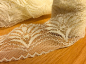 VL7C- 20m x 50mm Ivory Cream Vintage Lace Bridal Wedding Trim Ribbon CRAFT