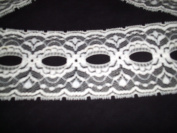 Lace, nylon, ivory, eyelet, 7cm X 10 yards