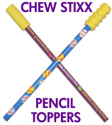 CHEW STIXX PENCIL TOPPERS
