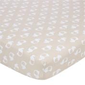 Gerber Knit Crib Sheet - Mocha Elephant