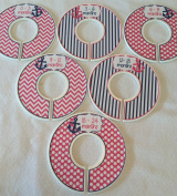 Pink & Blue Anchor Infant Closet Dividers