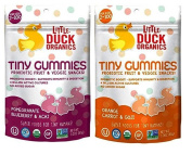 Little Duck Organics Tiny Gummies Probiotic Fruit & Veggie Snacks 2 Flavour Variety Bundle