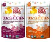 Little Duck Organics Tiny Gummies Probiotic Fruit & Veggie Snacks 2 Flavour Variety Bundle