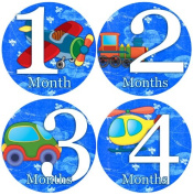 aeroplanes CARS TRAINS HELICOPTERS Baby Month By Month Stickers - Baby Month Onesie Stickers Baby Shower Gift Photo Shower Stickers, baby boy Aeroplanes