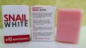Snail White Soap 10x Whitening Power 70g.,dark Spots Damage Skin Face & Body.