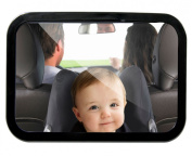 Baby Car Mirror for Back Seat From Little Route, Easy to Instal 360° Rotation for a Full Rear View, High Quality Soft Frame and Shatterproof Glass. Best Mirror in the Market Guaranteed. Get the Safest Product for Your Baby!
