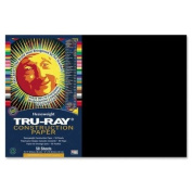 Tru-Ray Construction Paper, 34kg., 12 x 18, Black, 50 Sheets/Pack