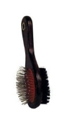 Aloe Care Dog Grooming Brush Small Nylon, Stainless Steel, Wood Handle