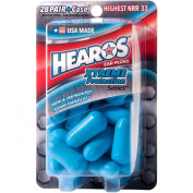 HEAROS Xtreme Protection Series Ear Plugs, Blue, 28 Pair