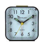 Travelwey Alarm Clock - No Ticking, Big Digits, Snooze, Ascending Alarm, Backlight, Luminous Hands - Very Simple To Use - Ideal For Travel Or Bedside Use - Strong, Hard Plastic Casing - 1 Year. LIMITED TIME Low Price Offer