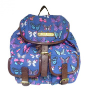 New Designer Anna Smith Butterfly, Butterflies, Print Retro Vintage Rucksack Ladies Backpack