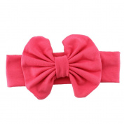 Cute Baby Girls Kids Stretch Bowknot Headband Hairband