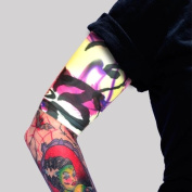 Tat2X Ink Armour Premium Tattoo Cover Up Sleeve - No Slip Gripper - U.S. Made - Half Arm - Island Dark - ML