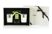 Bahoma Pomelo Grapefruit Luxurious Gift Box with a 100 ml Bath Oil in a Glass Bottle Plus Two Travel Size Candles