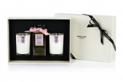 Bahoma Paradise Luxurious Gift Box with a 100 ml Bath Oil in a Glass Bottle Plus Two Travel Size Candles