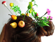 Cuhair(tm) Girl Baby Gift Love Manga 10pcs Mixed Style Sprout Flower Grass Design Hair Clip Pin Barrettes Accessories