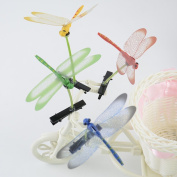 Cuhair(tm) Girl Baby Gift Love Manga Mixed Assorted Colour 10pcs Cute Dragonfly Sprout Design Hair Clip Pin Barrettes Accessories
