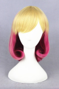 35cm Blond Gradient Red Short Straight Lolita Style Daily Fashion Wigs For Womens/Girls/Ladies
