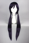 100cm Dark Purple Colour Long Straight Cosplay Wigs For Love Live And Woman/Girl/lady's Daily Fashion Makeup