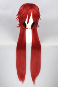 100cm Red Colour Long Straight Cosplay Wigs For Black Bulter And Halloween Cosplay