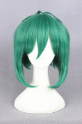 35cm Green Colour Short Straight Cosplay Wigs For Macorss And Halloween Cosplay
