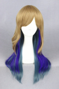 60cm Lolita Style Wave Curly Wigs For Woman Daily Makeup And Halloween Cosplay