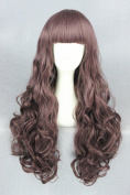 65cm Lolita Style Wave Curly Wigs For Woman Daily Makeup And Halloween Cosplay