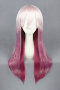 65cm Gradient Colour Long Straight Cosplay Wigs For Guilty Crown And Halloween Cosplay