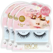 Blinque 100% Human Hair False Eyelashes 3 Pairs, Style #28