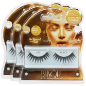 Blinque 100% Human Hair False Eyelashes 3 Pairs, Style #62