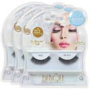 Blinque 100% Human Hair False Eyelashes 3 Pairs, Style #66