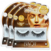 Blinque 100% Human Hair False Eyelashes 3 Pairs, Colour# 605.