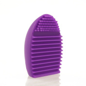 Cleaning Cosmetics Tool Makeup Brush-Silicone Foundation Cleaner Tool-Gel Cleaner Scrubber Tool Random colour