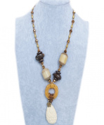Precious Bodhi Seed Crystal Beads Mermaid Pendant Necklace, The best gift for Ladies / Mother / Grandmother