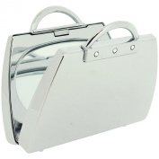 """FMG """"Handbag"""" Shaped Compact Mirror Suitable For Engraving SC1087"""