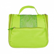 Millya Ladies Mens Toiletbag Hanging Middle Toiletry Wash Bag with Hook Green