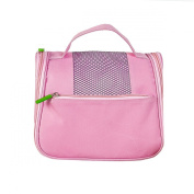 Millya Ladies Mens Toiletbag Hanging Middle Toiletry Wash Bag with Hook Pink