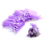 OULII 7*9cm Organza Drawstring Gift Bags Wedding Favour Bags Jewellery Pouches - 100 pcsset