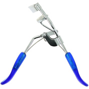 Metal Eyelash Curlers with Spring and Blue Handles