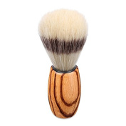 handle made shaving brush from zebrano