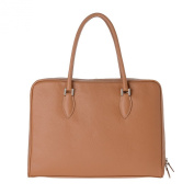 Women's satchel shoulder bag made in Italy leather two handles DUDU Camel