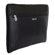 Rowallan Black Leather Portfolio