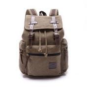 Cooler New Men Women Vintage Canvas Backpack Backpack Retro Vintage for Outdoor Sports Backpack Uni Rucksack